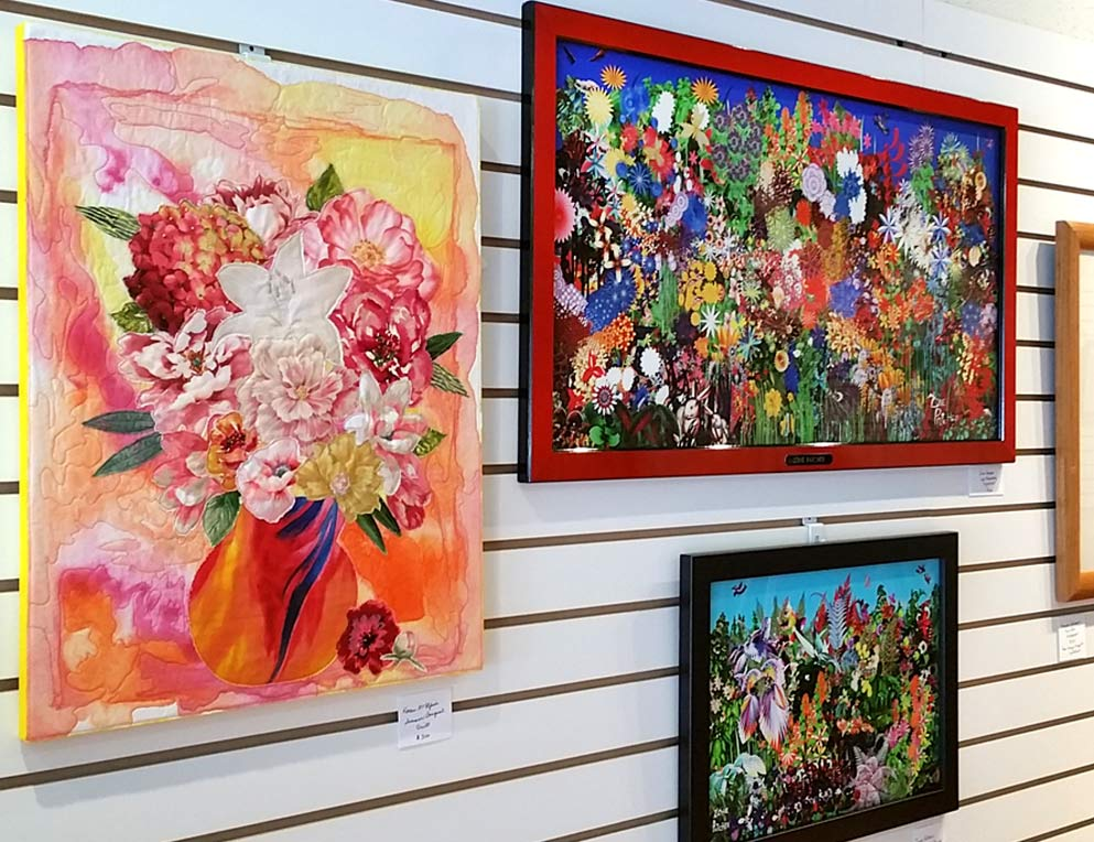 Floral art on display at Gallery on Gazebo Johnstown PA