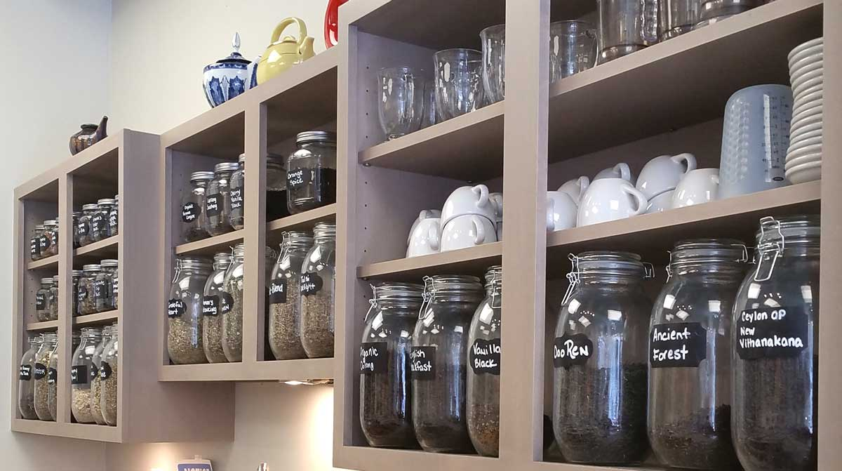 Large Jars of Loose Leaf Tea at Art of Tea Shoppe