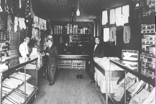 Early Glosser Bros' Store Interior