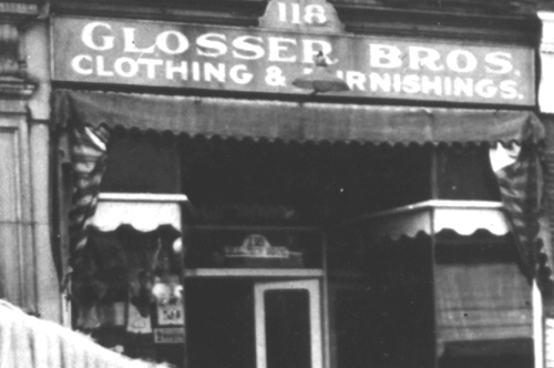 Early Glosser Bros' Store Exterior