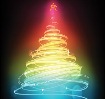 Bright Christmas Tree Graphic