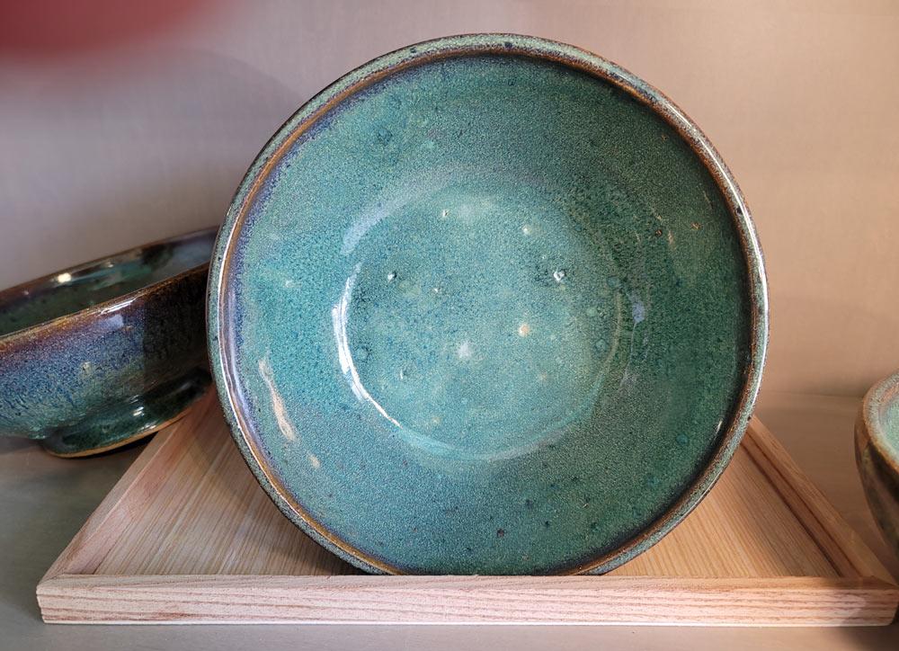 Breen-Blue Pottery Bowl by Dan Eash