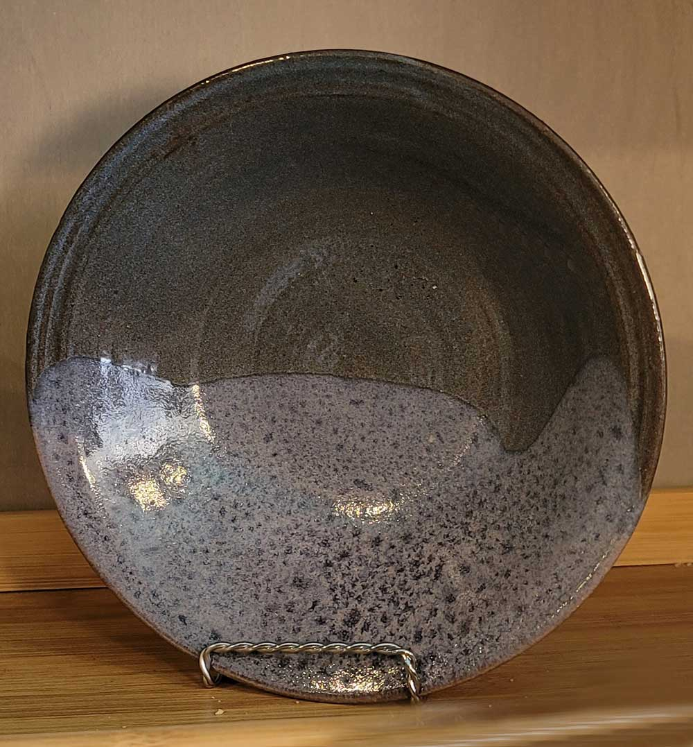 Tan Marbled Pottery Bowl by Dan Eash