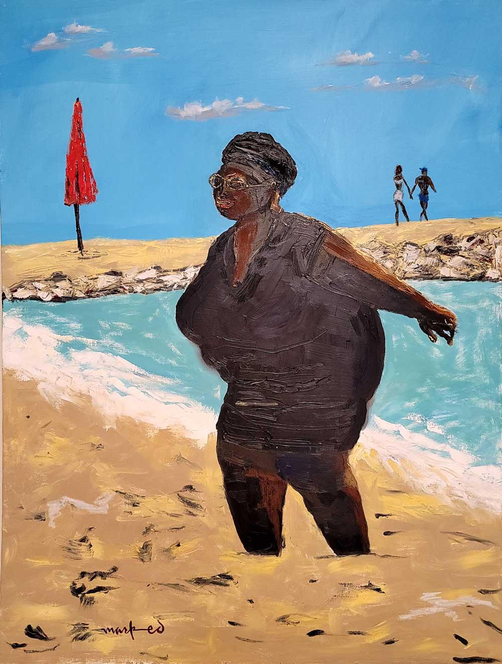 Mark Ed - Woman at the Beach