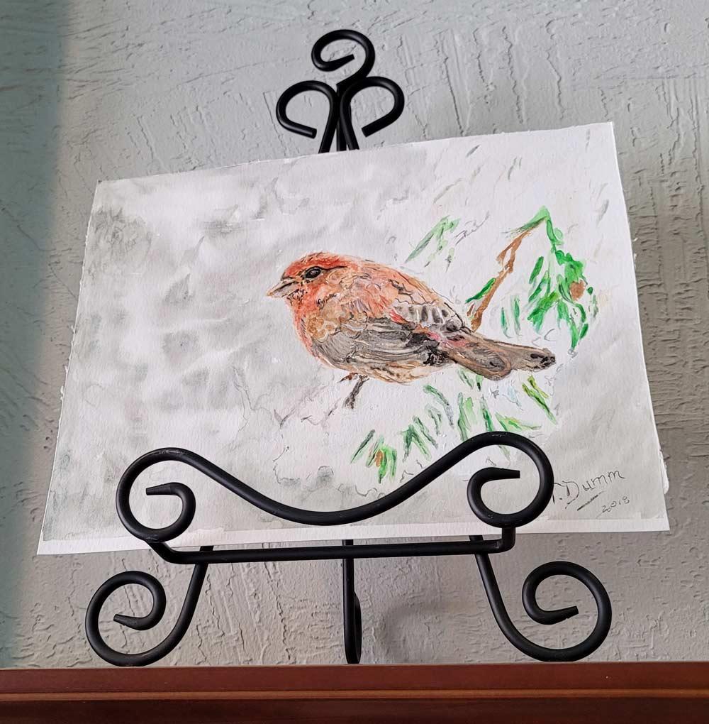 Watercolor - Bird by Tom Dumm
