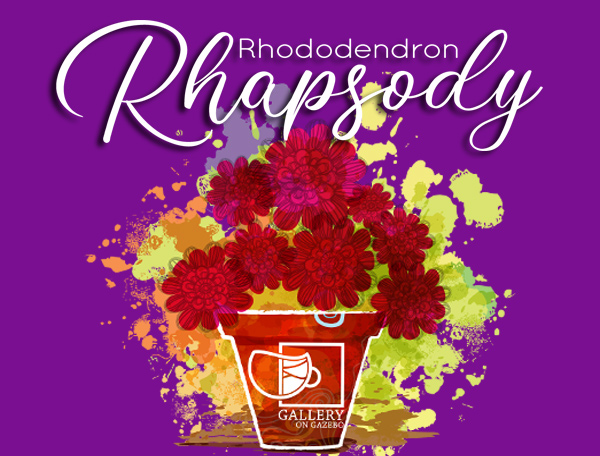 Purple Logo Rhododendron Rhapsody coming May 16, 2021